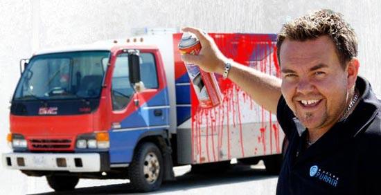 Modern PurAir Graffiti Truck